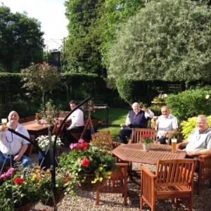 The clubs beautiful gardens